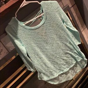 Teal Sweater with super cute back